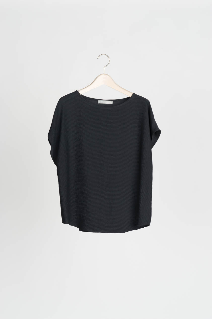shell blouse - front - black