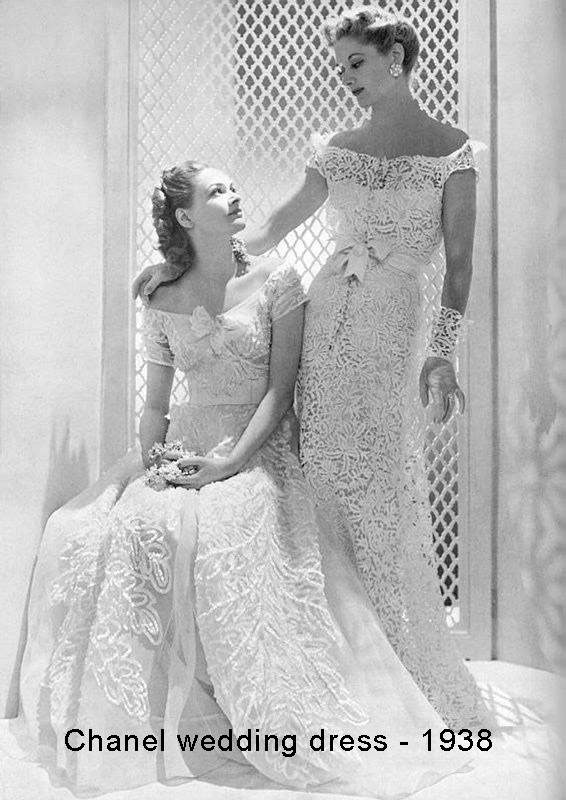 1938 -Chanel wedding dress